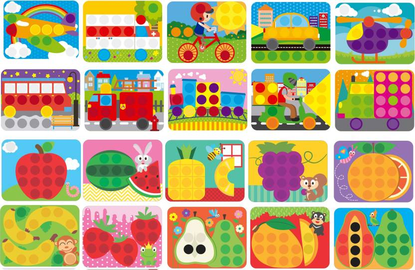 GoAppuGo 20 In 1 Creative Activity Puzzles Baby Birthday Gift For 2 3 Year Old Boys Girl Kids Pieces