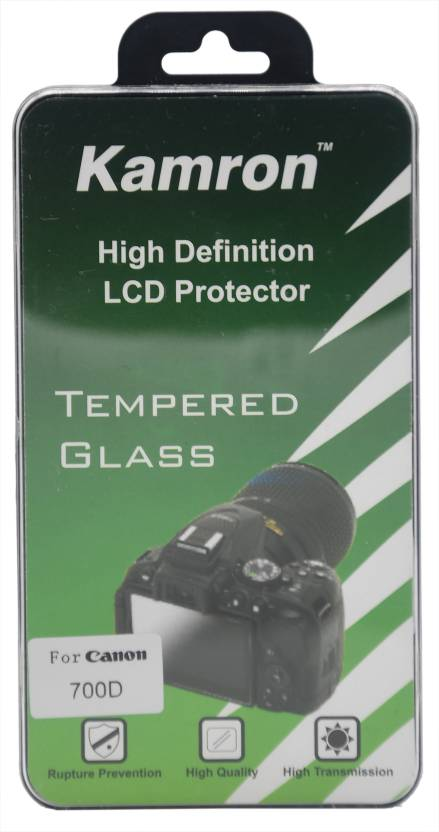 Kamron Tempered Glass Guard for CANON EOS 700D/750D/760D/800D High  Definition LCD Screen Protector