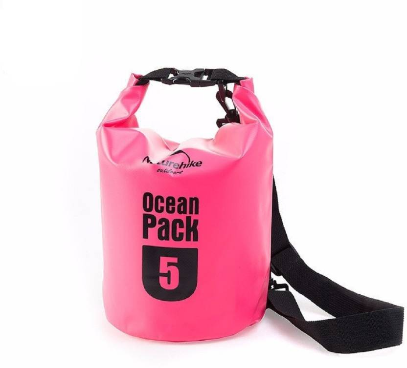 Lemish 5 Liter Waterproof Outdoor Ocean Pack Dry Bag For Drifting Swimming Gym Bag-Pink Small Travel Bag (Pink)