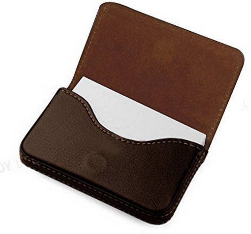 dab66254317 Loggas Stylish Pocket Sized Stitched Leather Visiting Card Holder For  Keeping Business Cards 20 Card Holder (Set of 1, Brown)