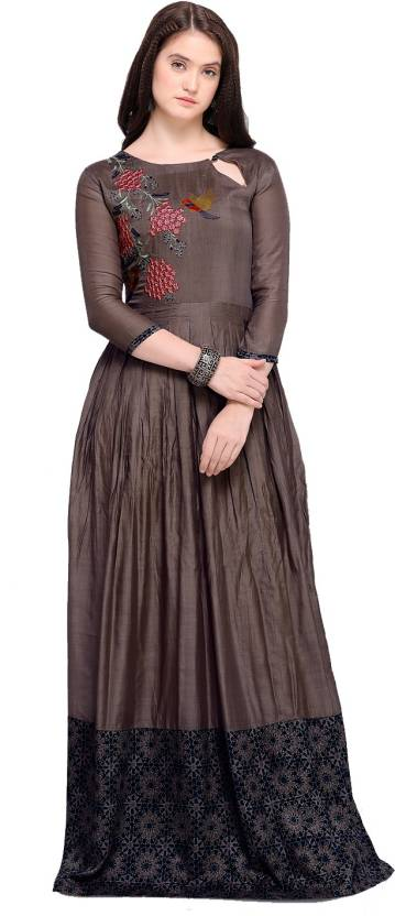 51010959355f1c Stylee Lifestyle Flared Gown Price in India - Buy Stylee Lifestyle ...
