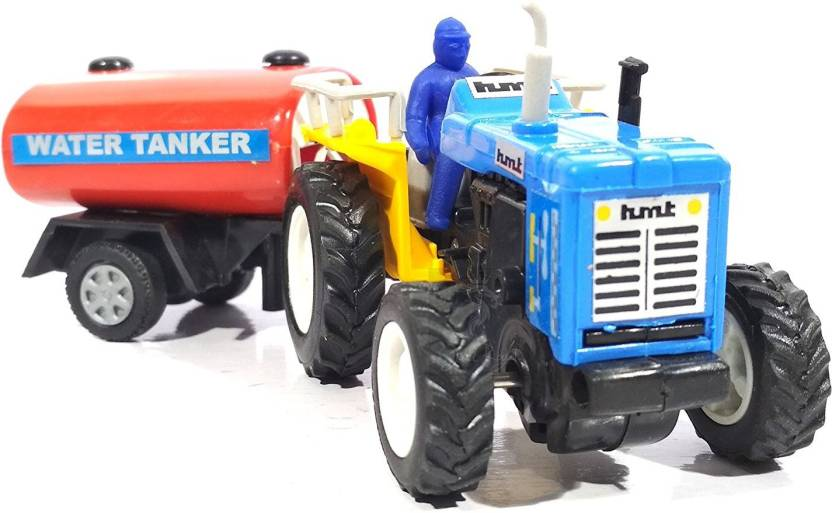 E-Chariot Tractor with Tanker CT-119 - Blue Miniature