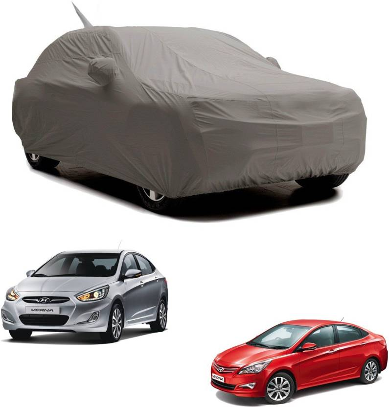 rideofrenzy Car Cover For Hyundai Verna (With Mirror Pockets) Price