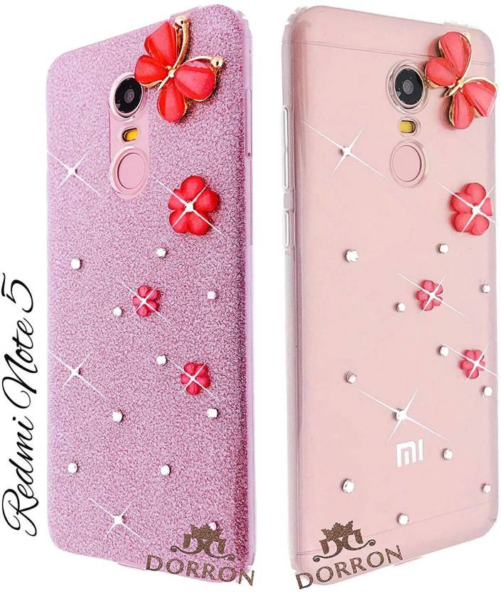 100% authentic 80111 ee53c DORRON Back Cover for Mi Redmi Note 5 Butterfly Shiny Stylish ...