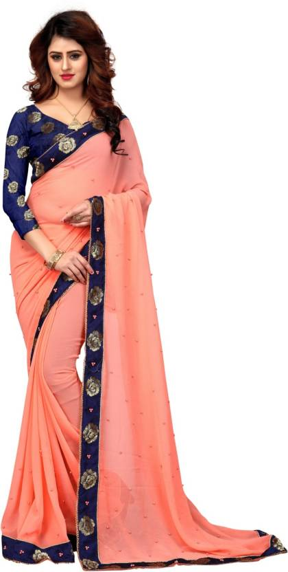 84c92a26d Buy Shoppershopee Embellished Venkatagiri Pure Chiffon Multicolor ...