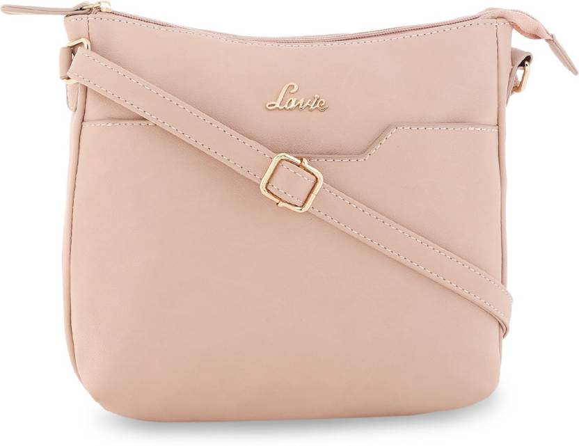 0478e178f29 Lavie Women Evening Party Beige Leatherette Sling Bag Pink - Price in India
