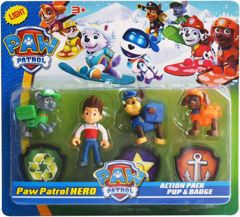 Kiditos Paw Patrol Action Pup Badge Ryder Chase Rocky Zuma