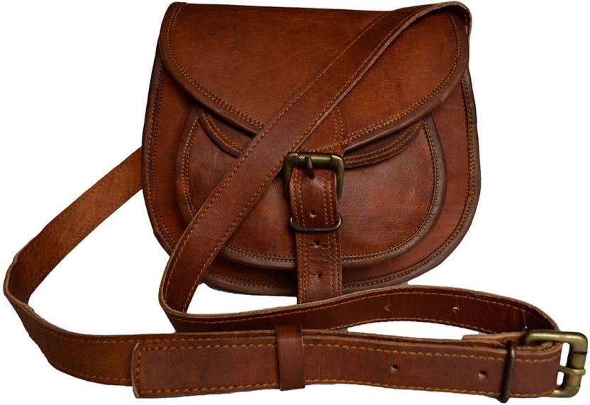 390074d2c53e The Artists Creation Genuine Leather Small Casual Bags For Women Shoulder  Purse Daily Use Cross-body Sling Bag (Brown, 2 L)