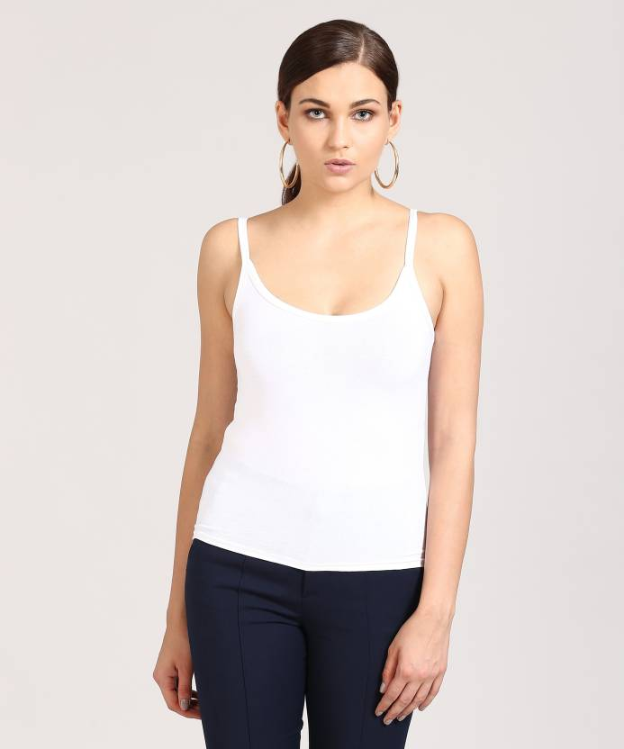 f4b64284ad34b Forever 21 Women s Camisole - Buy WHITE Forever 21 Women s Camisole Online  at Best Prices in India