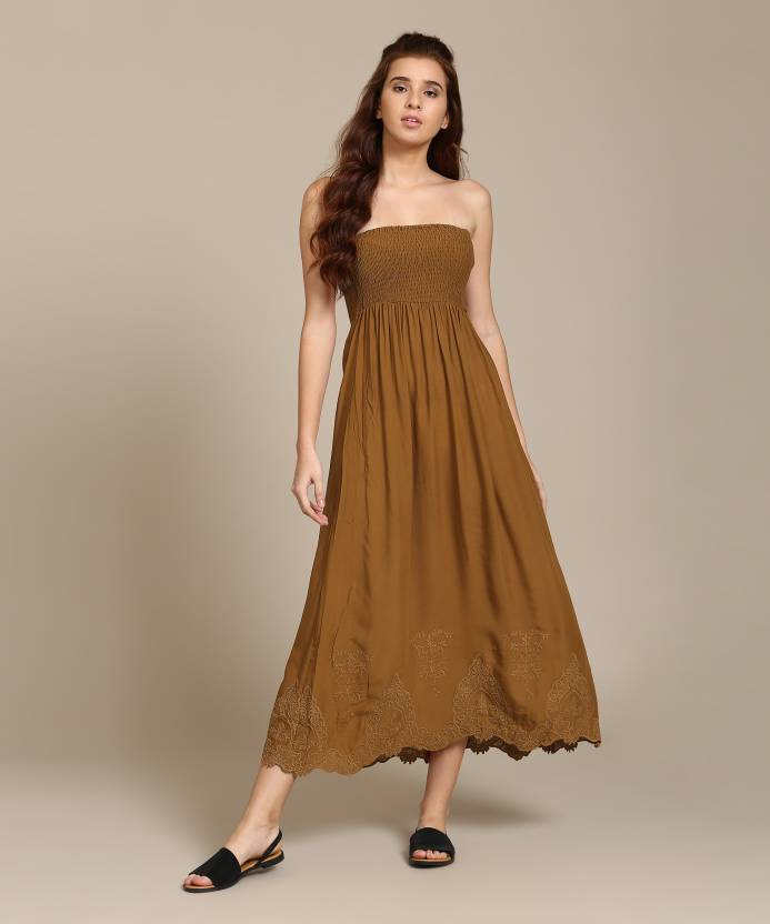 053a94d221c Forever 21 Women s Tube Brown Dress - Buy GINGER Forever 21 Women s Tube  Brown Dress Online at Best Prices in India