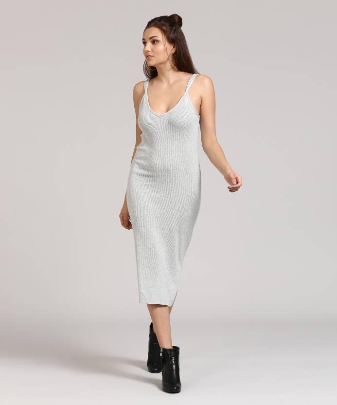 fcbf001dceda Forever 21 Women's Bodycon Grey Dress - Buy HEATHER GREY Forever 21 Women's  Bodycon Grey Dress Online at Best Prices in India   Flipkart.com