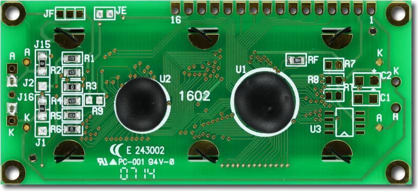 LBD Robotics LCD Display: 16x2 Electronic Components