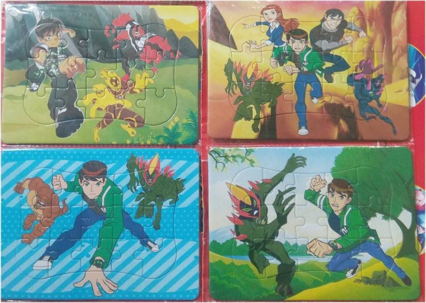 pari Ben10 Jigsaw Puzzel for kids set of 4 Puzzel  For Early