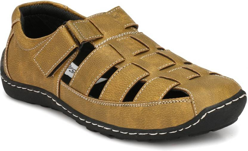 dc4ad52eabb5 Shoegaro Men Tan Sandals - Buy Shoegaro Men Tan Sandals Online at Best Price  - Shop Online for Footwears in India