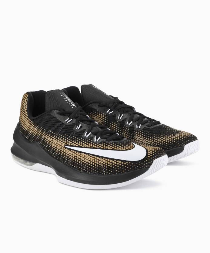 Nike AIR MAX INFURIATE LOW Basketball Shoes For Men - Buy BLACK ... 52d99279f