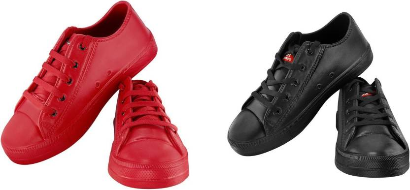 28184e5f Zapatoz Black & Red Tennis Eva Casual Shoes for Men & Boy's Canvas Shoes  For Men (Black, Red)