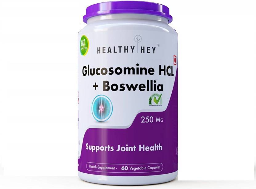 HealthyHey Nutrition Glucosomine HCL + Boswellia - Support