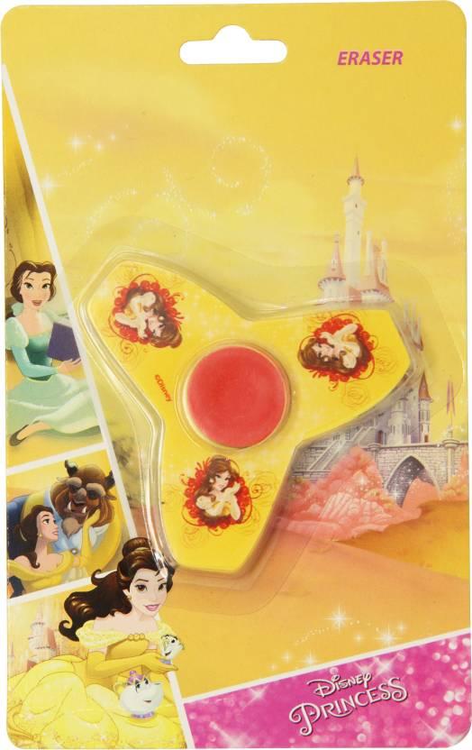 Disney BELLE Fidget SPINNER ERASER   HMWSER 99554 BEL Yellow