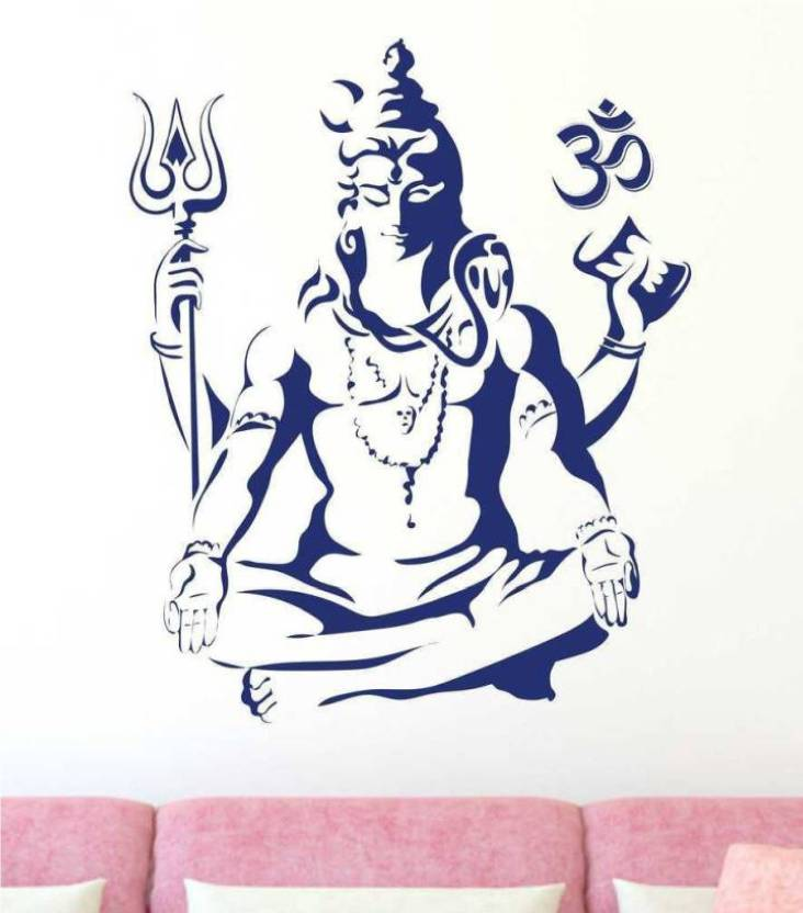 Marvellous Large Wall Decal Lord Shiva Jai Shiv Shankarbhole Baba
