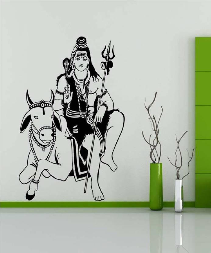 Marvellous Large Wall Sticker Lord Shiva Jai Bhole Baba Jai Shiv