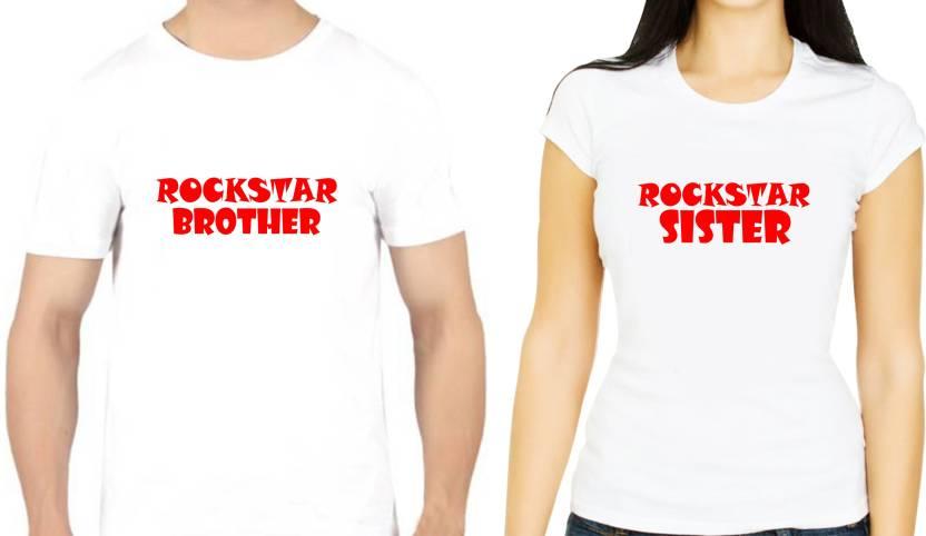05cd43f5bd7 Centuria Graphic Print Men   Women Round Neck White T-Shirt (Pack of 2)