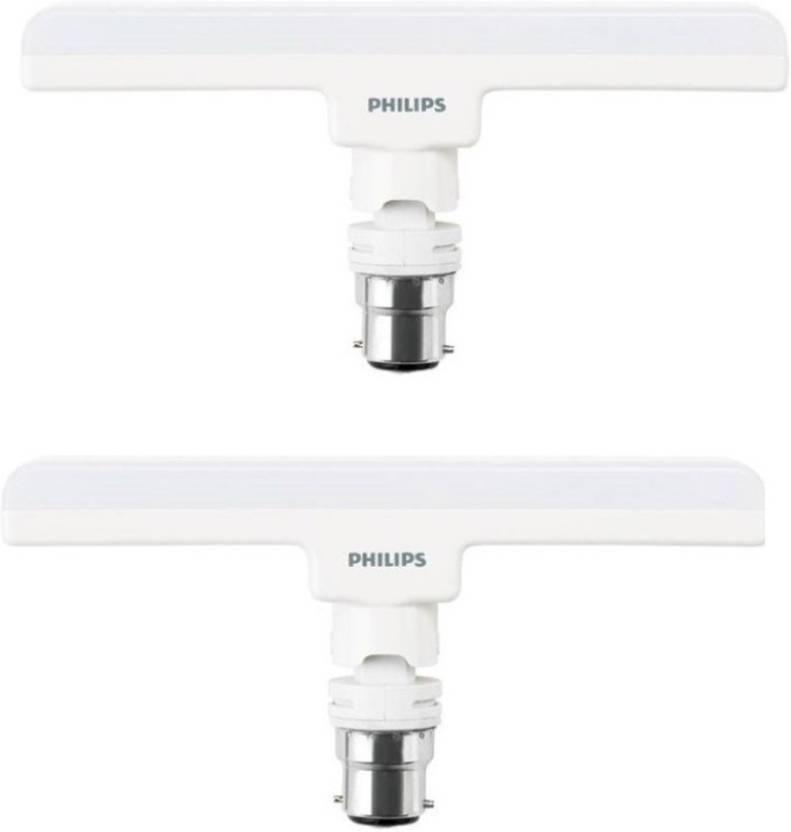 Philips 10 W T-Bulb B22 LED Bulb (White, Pack of 2)