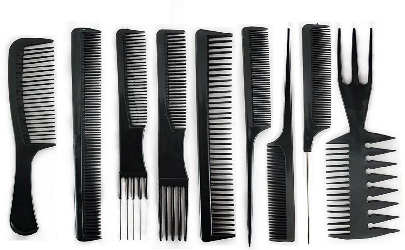 EKAN hair Comb Set For Man \u0026 Women (Set Of 9) + Free Hair Cutting Scissor