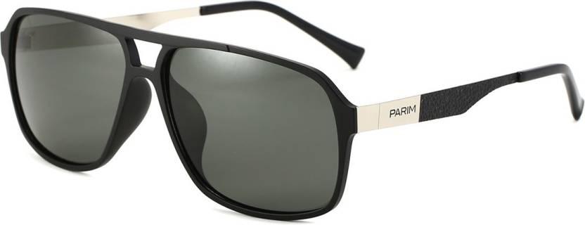 f12e398125 Buy PARIM Aviator Sunglasses Grey For Men Online   Best Prices in ...