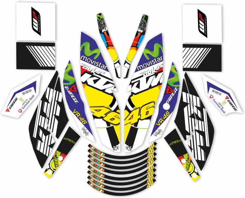 CR Decals Designs DUKE 125/200/390 Motorcycle Design Sticker