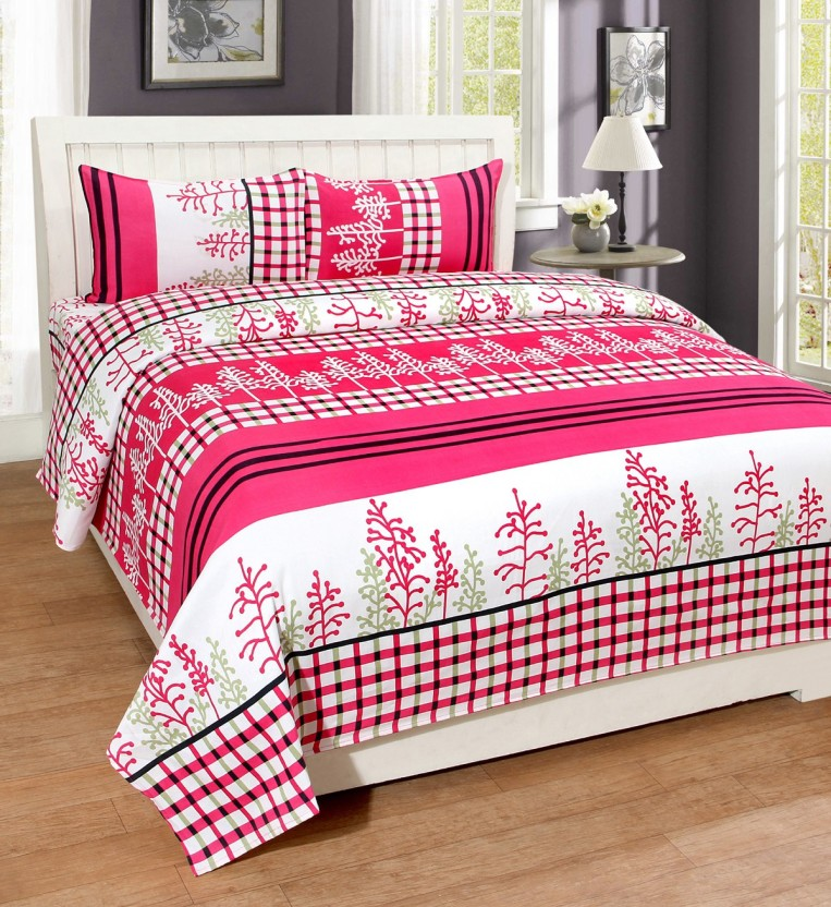 WI International 144 TC Polycotton Double Printed Bedsheet