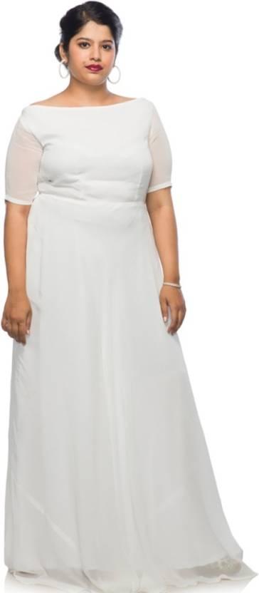 3dd10979bc9 XXLLENT Women s Maxi White Dress - Buy XXLLENT Women s Maxi White ...