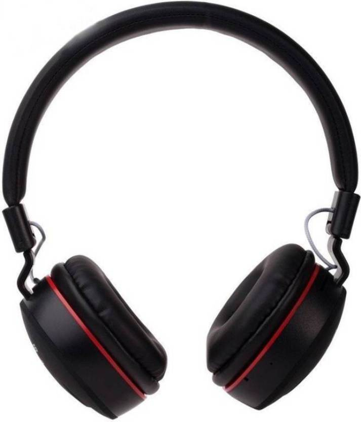 1fe8b631540 fivme headphone MS-771 Wireless Bluetooth Multi-function Headphone  Bluetooth Headset with Mic (Black, Over the Ear)