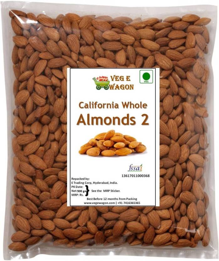 Veg E Wagon Almonds - California # 2 500 Almonds