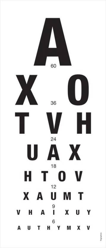 Snellen Eye Chart Paper Print Children Decorative Posters In