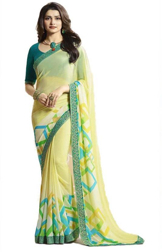 f6546387c2 Buy Kalapy Fashion Floral Print Fashion Georgette Multicolor Sarees ...
