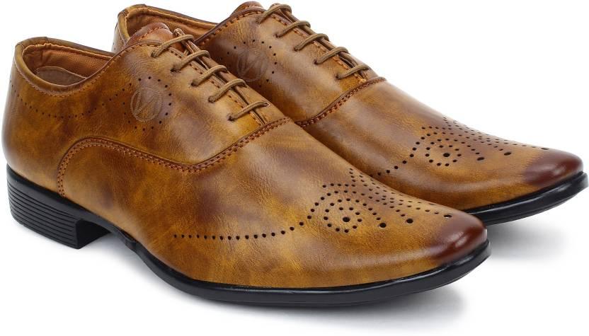 c4daae1ae4c538 BUWCH Buwch Formal Tan Color Shoe For Men Lace Up For Men - Buy ...