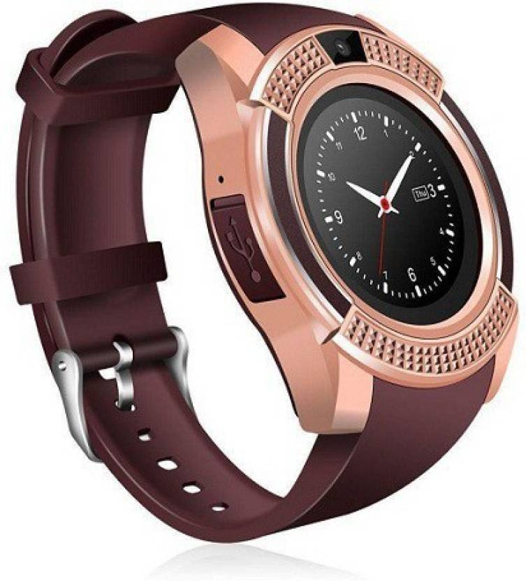 HALA V8 Smartwatch Brown 1002 Brown Smartwatch Price in India - Buy