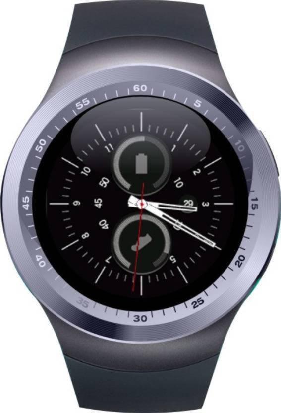2e62caf3a krazzy india Kem Y1 black smartwatch Black Smartwatch (Black Strap Free  Size)