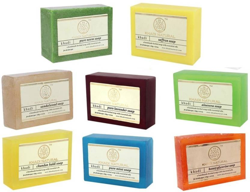 125g X 10 Set Of 10 Khadi Natural Soap Combo Assorted Natural Soap Gift Set