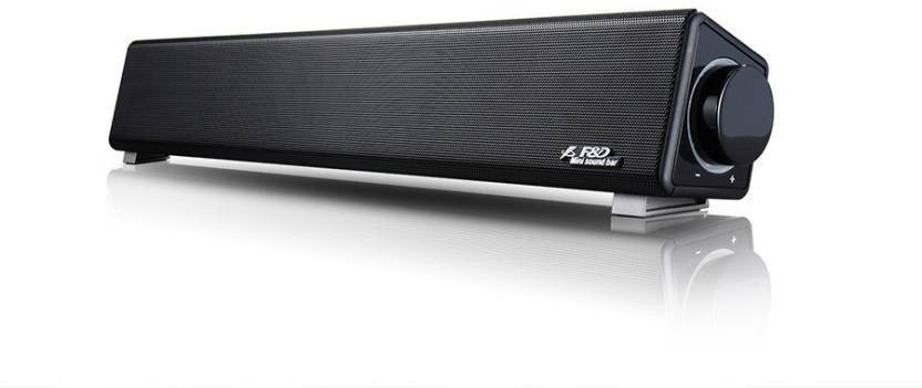 F D E200 3 W Portable Laptop/Desktop Speaker Black, Stereo Channel