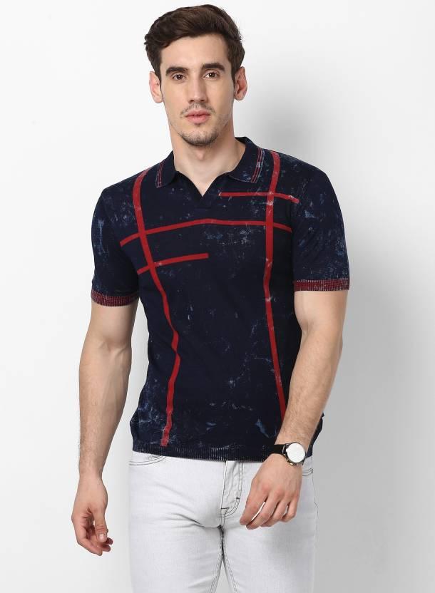 84e47c5c Monte Carlo Abstract Men Polo Neck Dark Blue T-Shirt - Buy Monte Carlo  Abstract Men Polo Neck Dark Blue T-Shirt Online at Best Prices in India |  Flipkart. ...