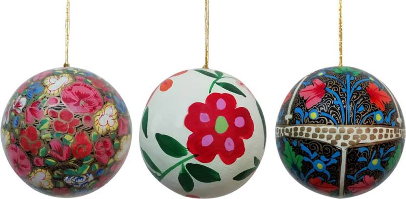 Paper Mache Christmas Ornament.Craftdarbar Handcrafted Paper Mache Christmas Decorative