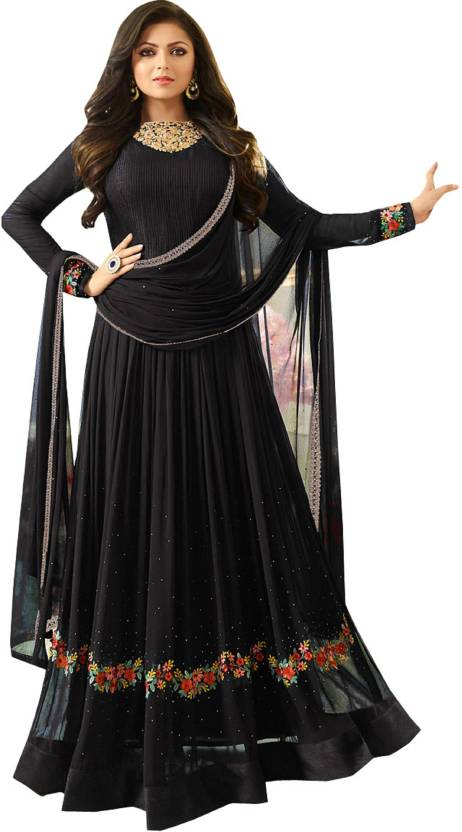39af9b2d0312 YOYO Fashion Faux Georgette Embroidered Anarkali Suit Material (Un-stitched)