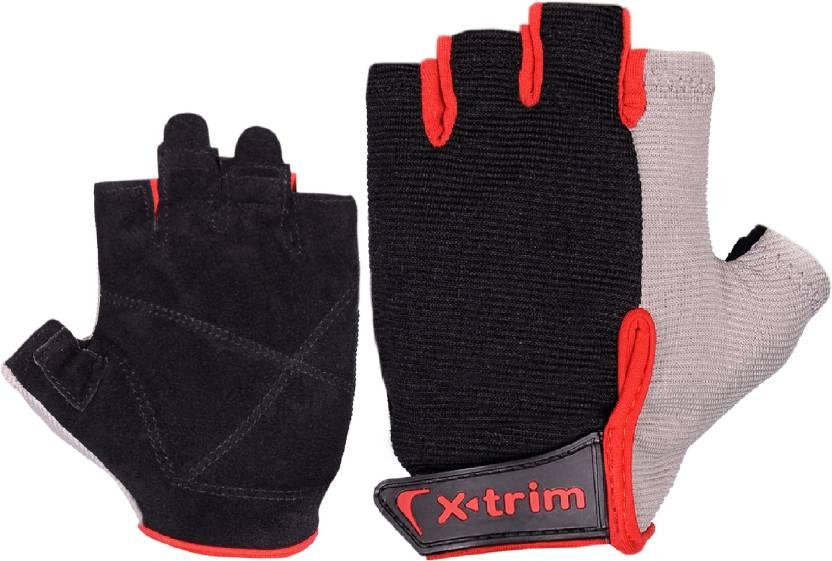 Xtrim PRO GRIP Gym   Fitness Gloves Black