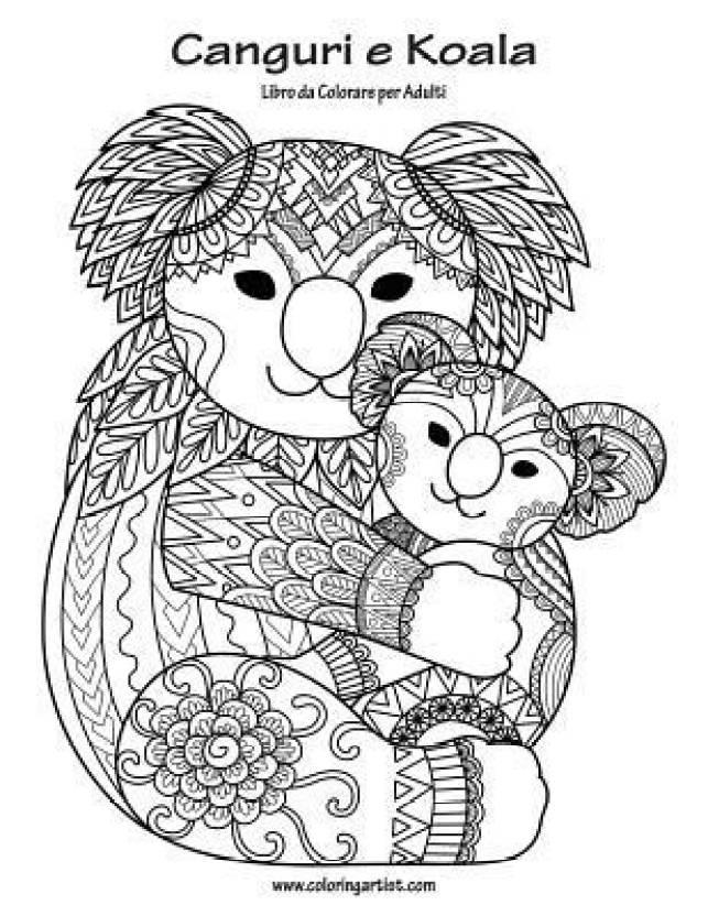 Canguri E Koala Libro Da Colorare Per Adulti 1 Buy Canguri E Koala