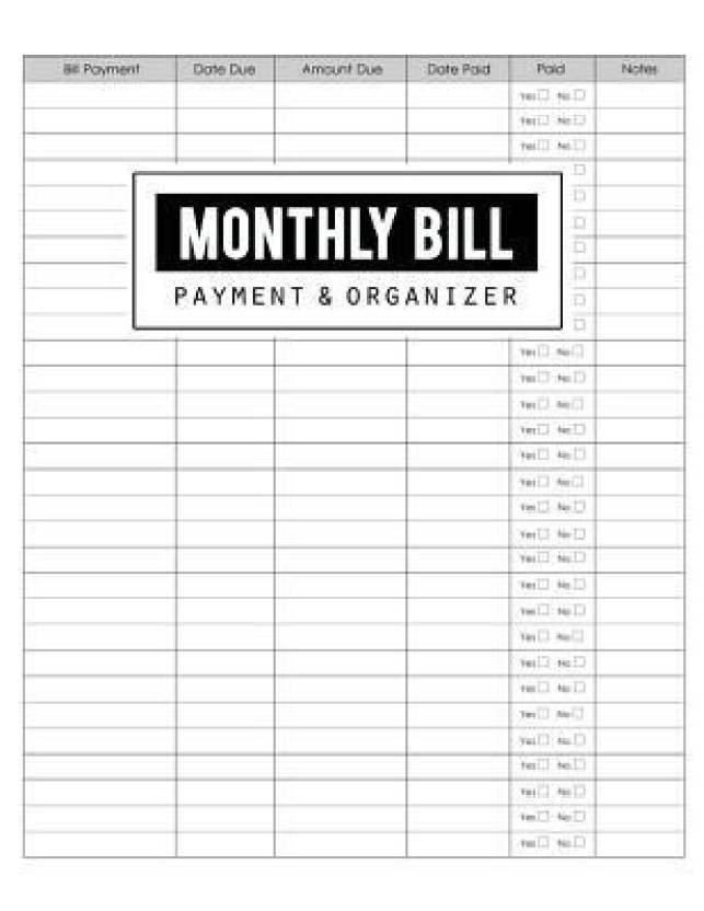 Monthly Bill Payment & Organizer - Buy Monthly Bill Payment
