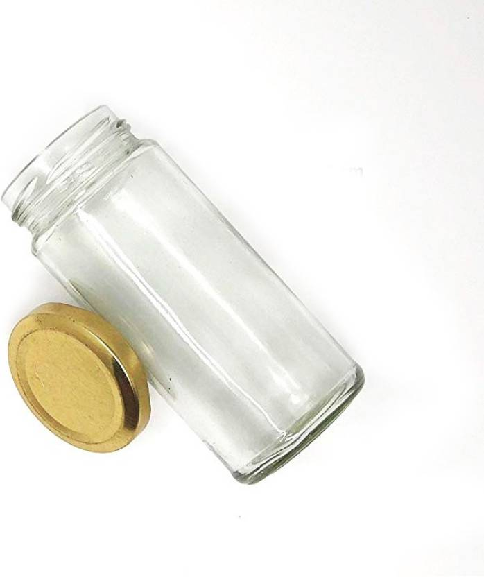 Cloudsell India Bamboo Glass Jars with Airtight Lid - 400 ml Glass