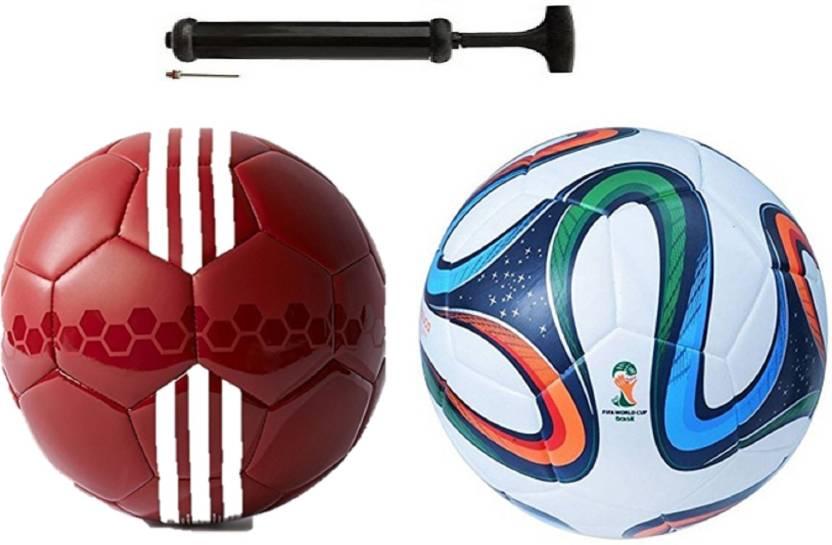 Alen CG Sea Red + 4 color Bazuka Football Combo With Durable Air Pump.  Football Kit - Buy Alen CG Sea Red + 4 color Bazuka Football Combo With Durable  Air ... d9600c80b