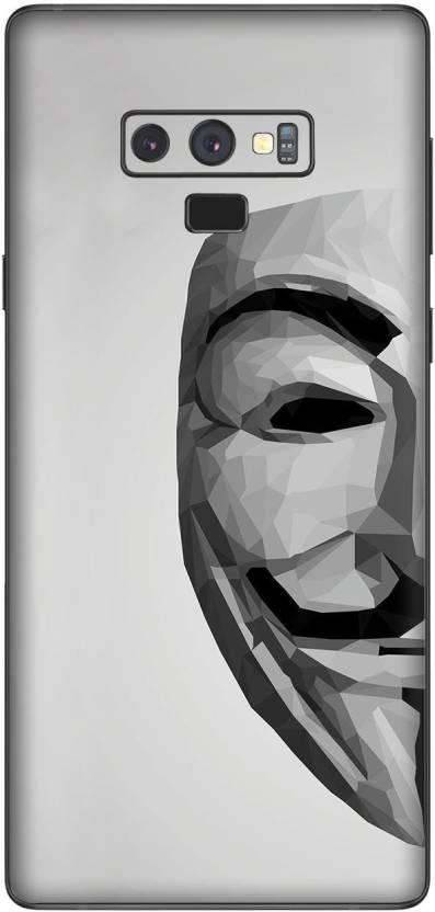 StickON SGN91vendetta mask Vinyl Fibre Only Back Customised