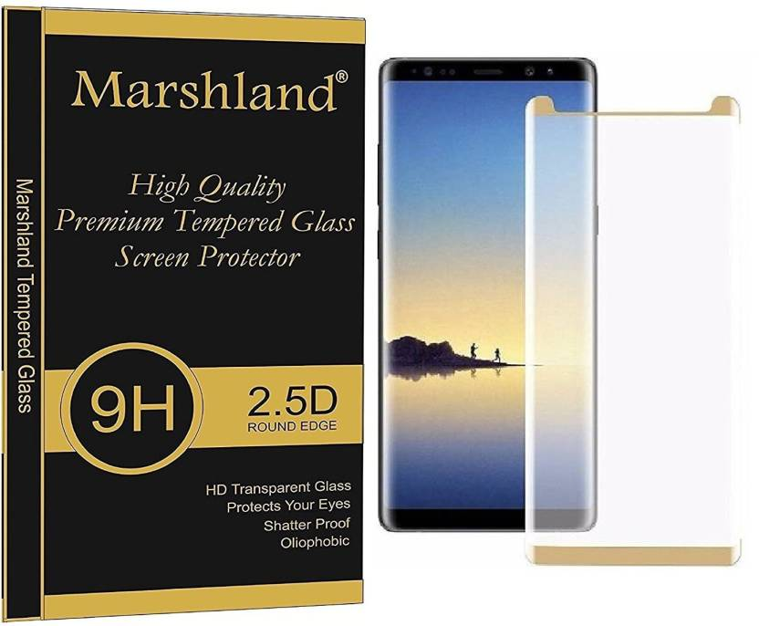 b67310ae4d8 Marshland Edge To Edge Tempered Glass for Samsung Galaxy Note 8 (Pack of 1)